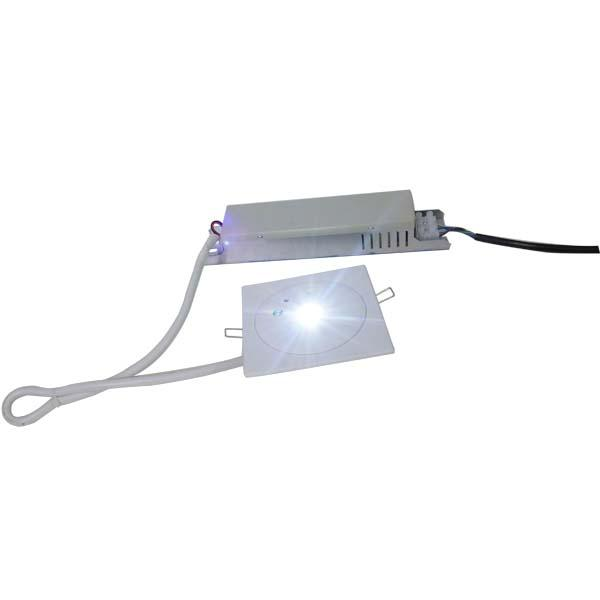 3 Hours Commercial Building LED Emergency Downlight With Electro Galvanized Steel Casing