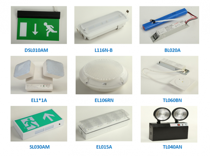 Wall Surface Mounted Waterproof Emergency Light , LED Emergency Bulkhead Light IP 65