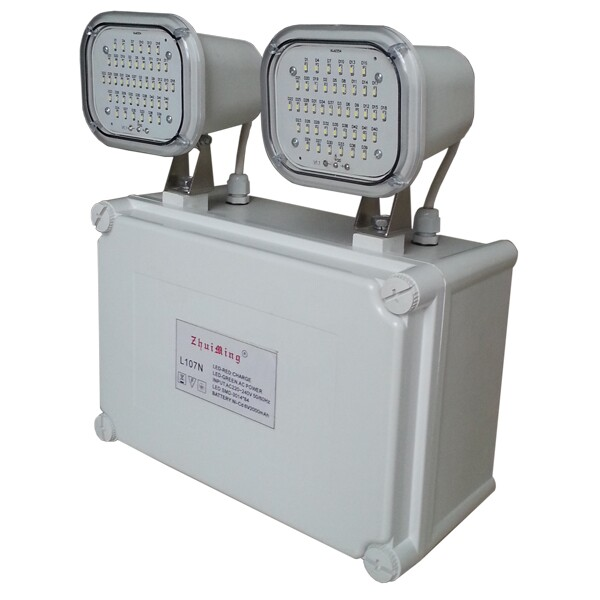 110V / 220V IP65 Waterproof Two head Led Emergency Light With CE Certification