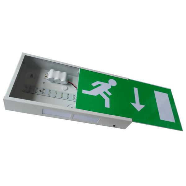 Running Man Rechargeable LED Exit Signs Wall Surface Mounted , CE Certification