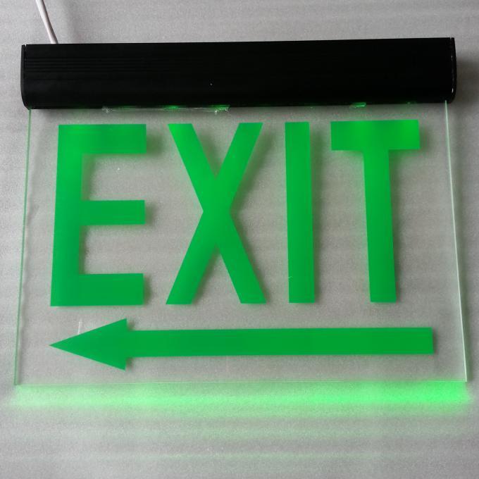 110v 220v maintained aluminum exit sign emergency lighting fire exit signs dsl008bm