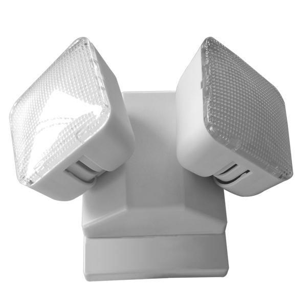 Wall Mounted Exit Lights : Exit Wall Surface Mounted Twin Head Emergency Light Non Maintained