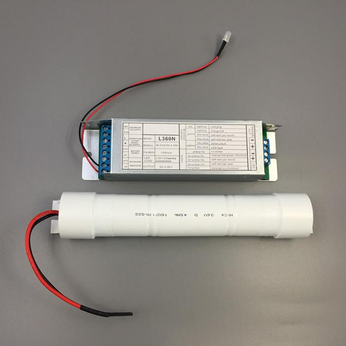 Stable Wattage Output Led Downlight Emergency Conversion Kit Battery Operation