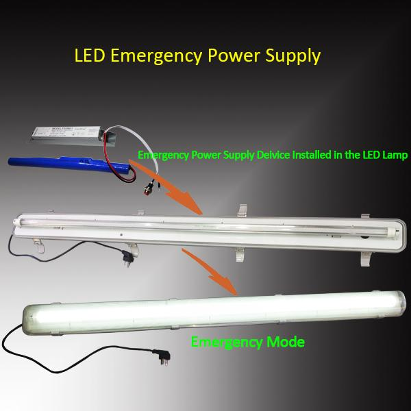 Li - Ion Battery Operated Led Emergency Power Supply For 1-10W Led Lights , Light Weight