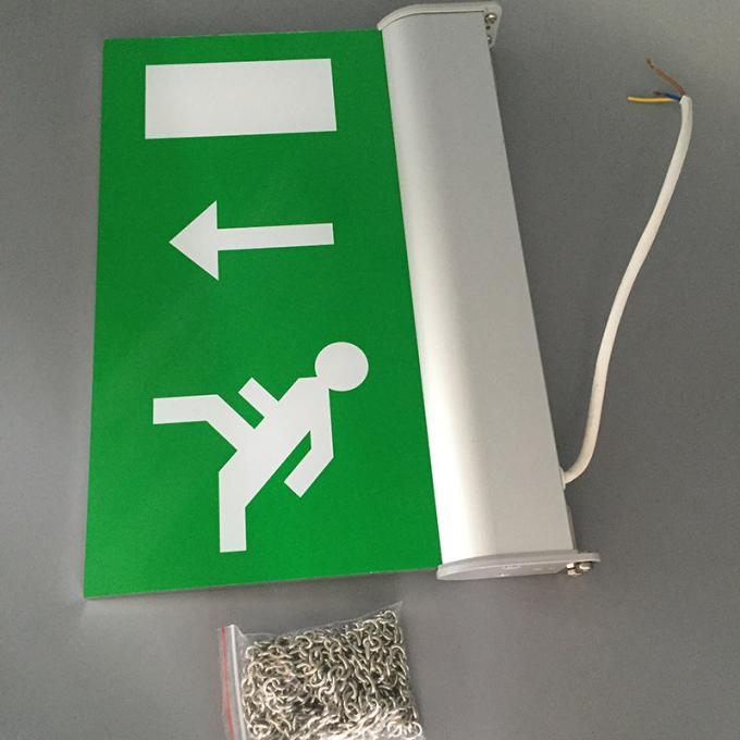 Rechargeable Battery Powered Led Emergency Double Sided Exit Signs 110V - 127V