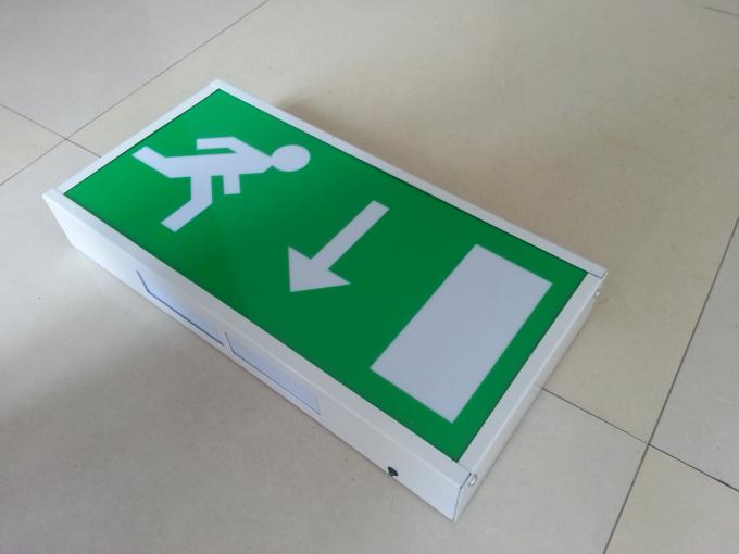 Wall Surface Mounted Power Charging Led Exit Signs With 3 Hours Operation