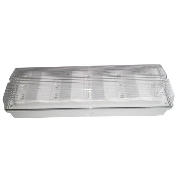 Waterproof Maintained Bulkhead LED Emergency Lights With 3 Hours Operation