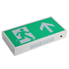 China Professional LED Exit Signs Battery Backup With 60 Pcs 3014 SMD LED , Green Color supplier