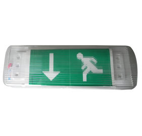 220V 3 Hours Operation Led Emergency Exit Sign With Green Escaping Sticker , CE Standard supplier