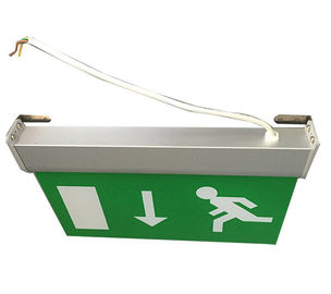 Maintained Double Sided Battery Powered Emergency Aluminum Exit Sign supplier