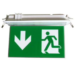 200LM Ceiling Recessed Indoor Led Battery Operated exit signs with emergency lighting