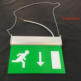 China Rechargeable Battery Powered Led Emergency Double Sided Exit Signs 110V - 127V supplier