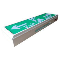 China IP20 Fire - retardant Industrial Rechargeable Led Exit Signs for office 220V supplier