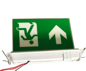 China Ceiling Recessed Emergency Led Exit Signs with Ni-Cd battery 3.6V1.8Ah supplier