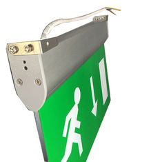 Fire - Proof Battery Powered Double Sided Exit Signs Led Emergency Signs supplier