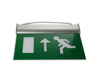 Running Man Graphics Exit Sign With Emergency Lights , 3 Hours Operation supplier