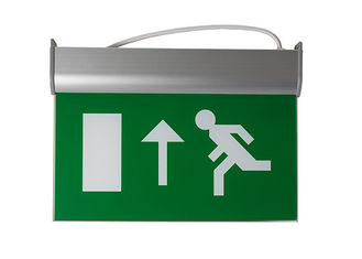 China Running Man Graphics Exit Sign With Emergency Lights , 3 Hours Operation supplier