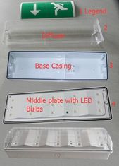Maintained 220V Wall Surface Mounted Emergency Light For Commercial Buildings supplier