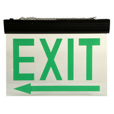 Automatic Maintained Double Sided Exit Signs For Ceiling Surface Suspended