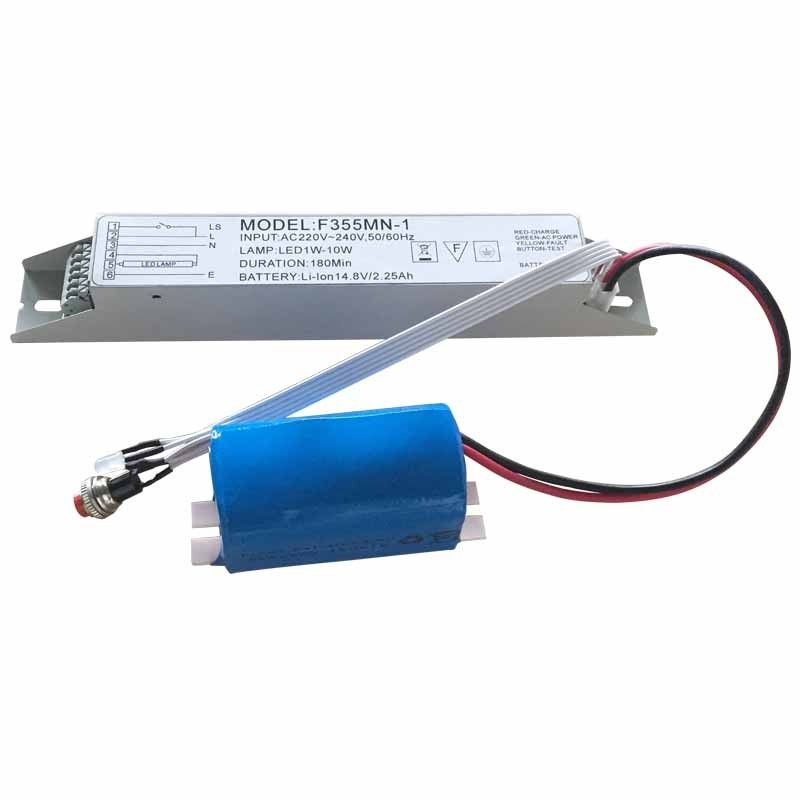LED Emergency Light Power Supply with Small Size Battery
