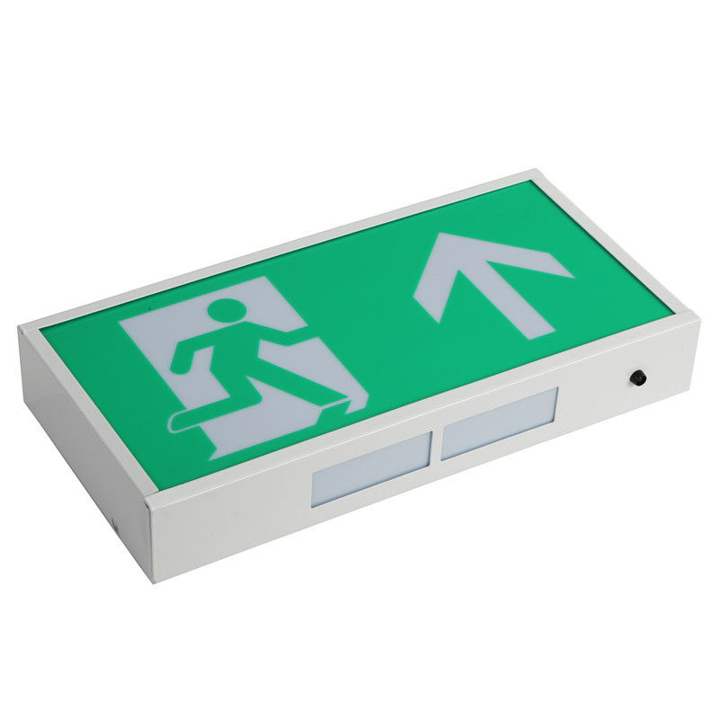 China Professional LED Exit Signs Battery Backup With 60 Pcs 3014 SMD LED , Green Color factory