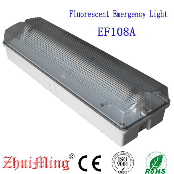 China Fluorescent  Waterproof Fire-Retardant ABS Casing and PO Diffuser Emergency Light factory