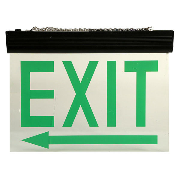 China Energy Saving Ceiling Mounted LED Aluminum Exit Sign With Acrylic Plate factory