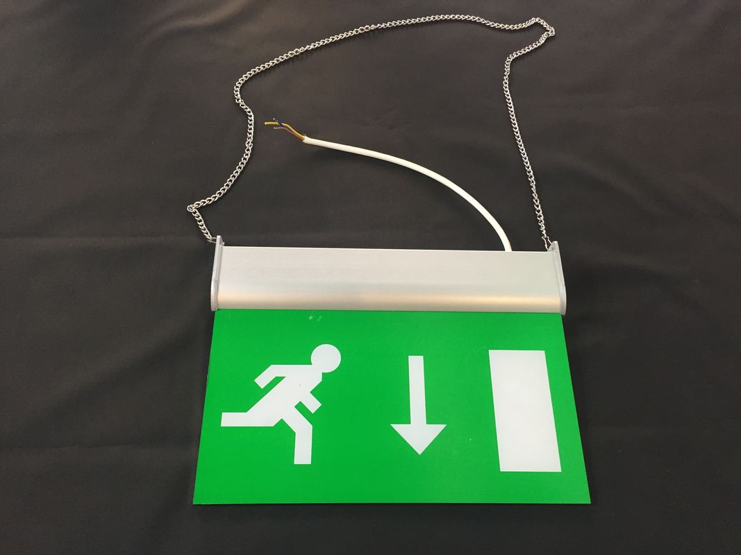 China 3 Hours Operation Rechargeable LED Double Side Emergency Exit Sign factory