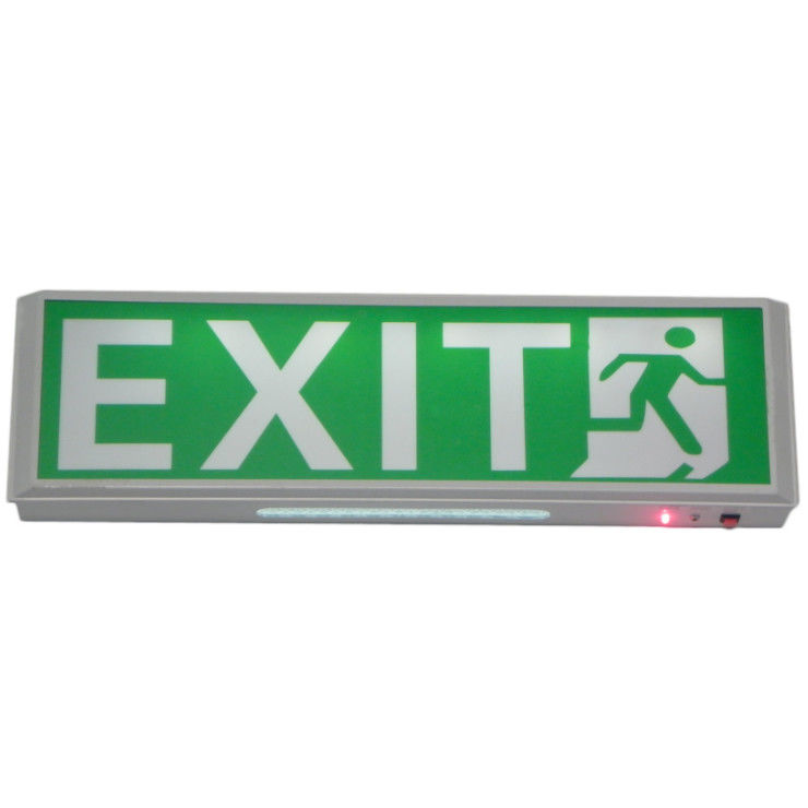 China Wall Surface Mounted Indoor Led Emergency Exit Sign Ni-Cad Battery Operation factory