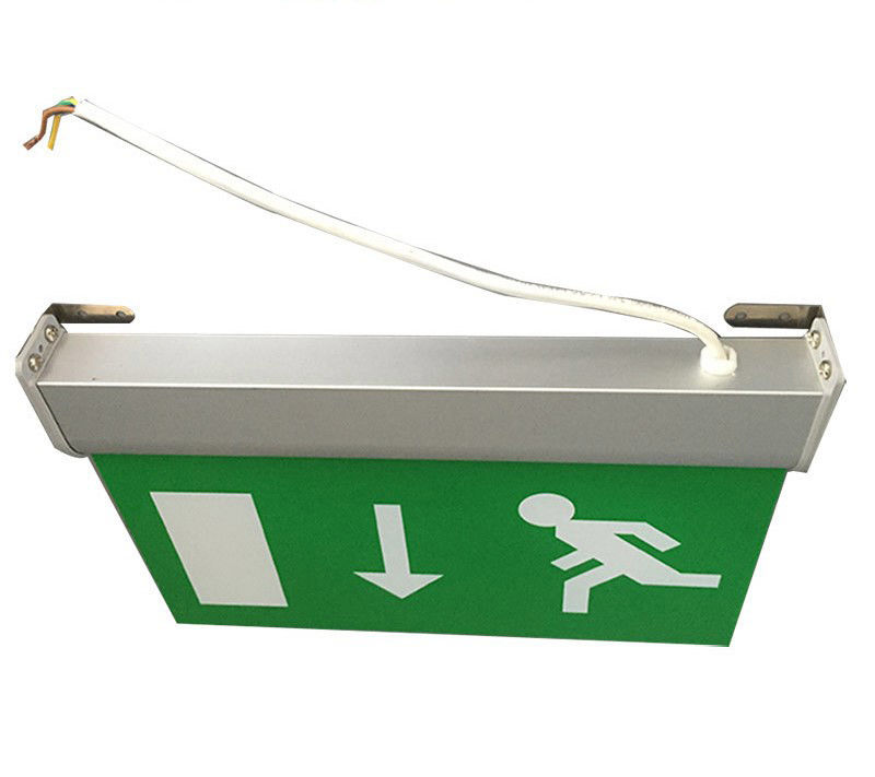 China Maintained Double Sided Battery Powered Emergency Aluminum Exit Sign factory