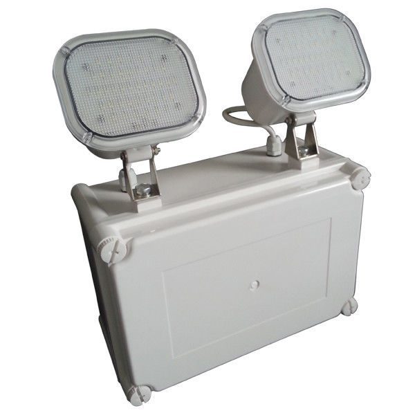 Waterproof Led Rechargeable Twin Spot Emergency Lights With Wall Surface Mounted supplier