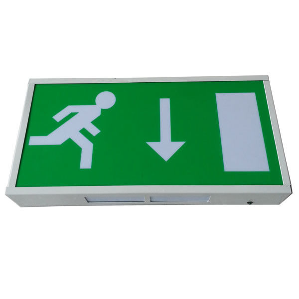 China Wall Surface Mounted Power Charging Led Exit Signs With 3 Hours Operation factory