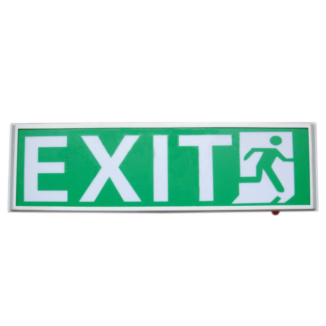 Permanent Hanging 120mA Led Emergency Exit Sign With 3 Years Warranty