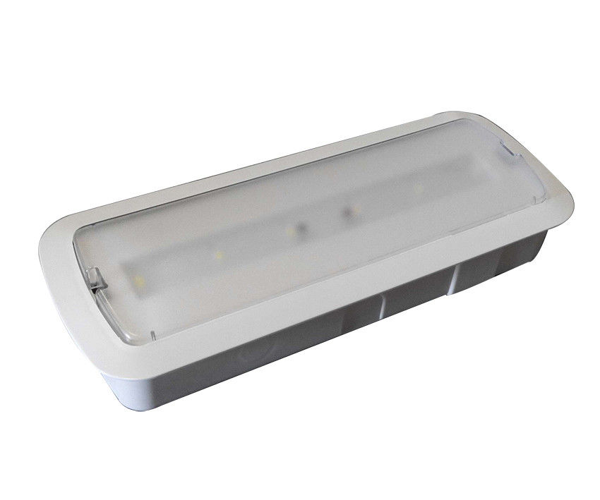 China Wall Recessed Battery Powered Rechargeable Emergency Light 220V - 240V 50Hz / 60Hz factory