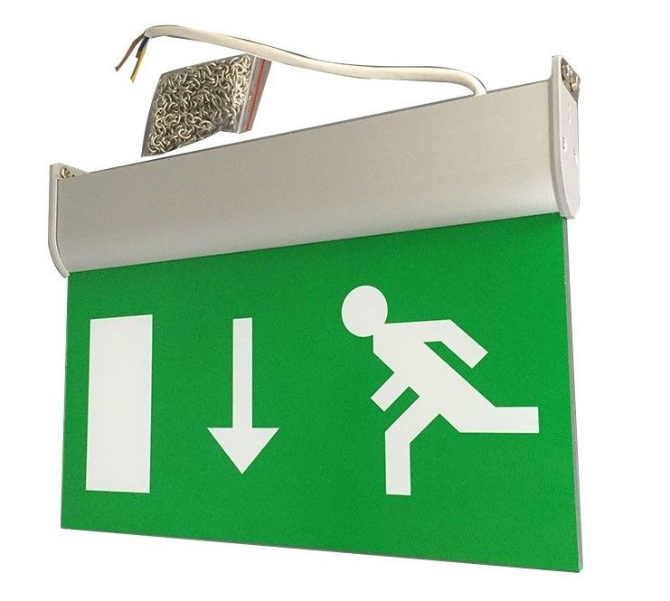 Fire - Proof Battery Powered Double Sided Exit Signs Led Emergency Signs