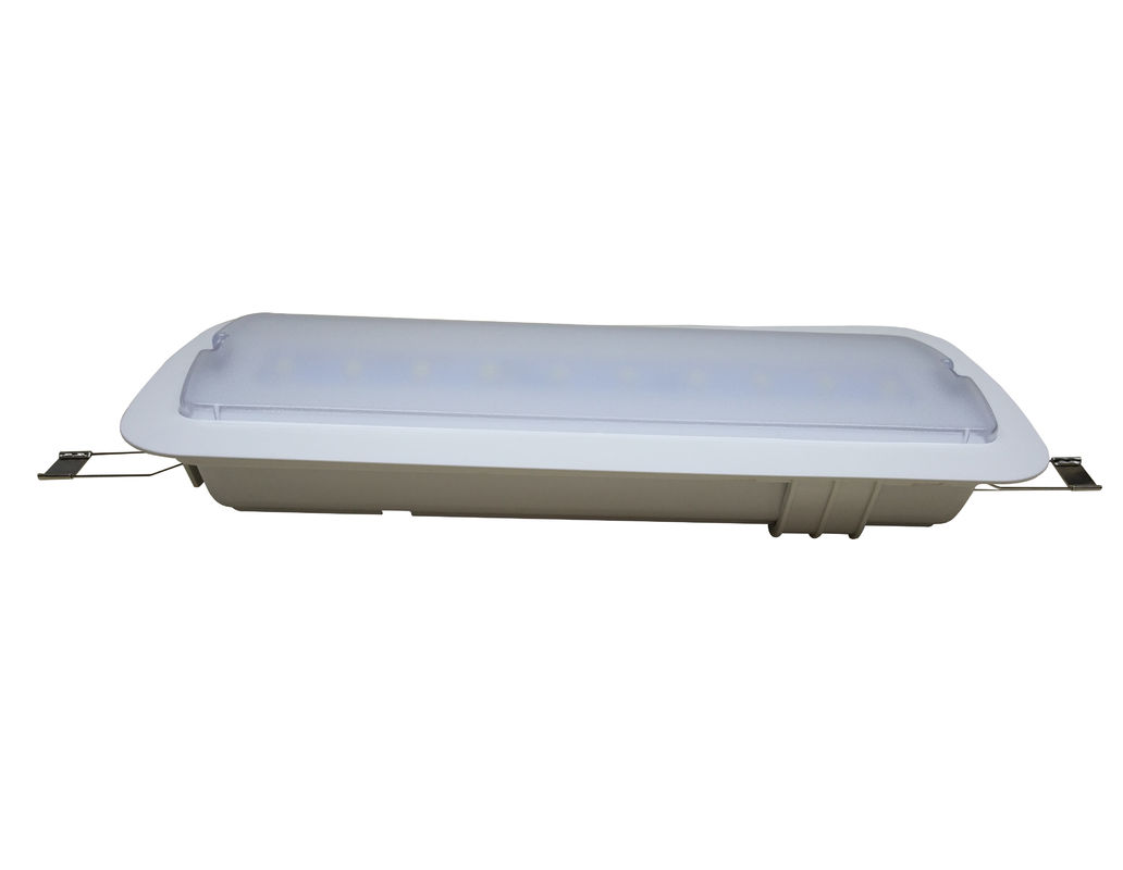 Battery Operated LED Ceiling Recessed Emergency Light With Fire Resistance ABS