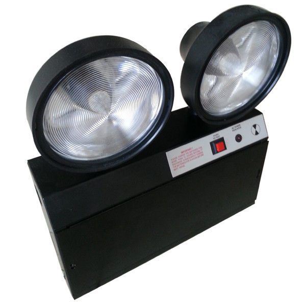Steel Casing Black 2x1.5W Two Heads Led Emergency Twin Spot With Test Button