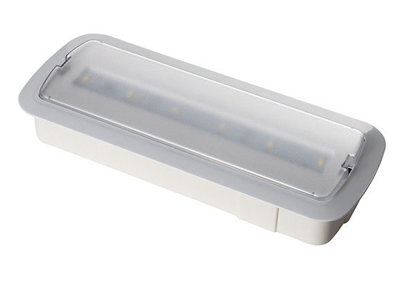 Wall Recessed Indoor IP20 LED Rechargeable Emergency Light 3 Hours Operation