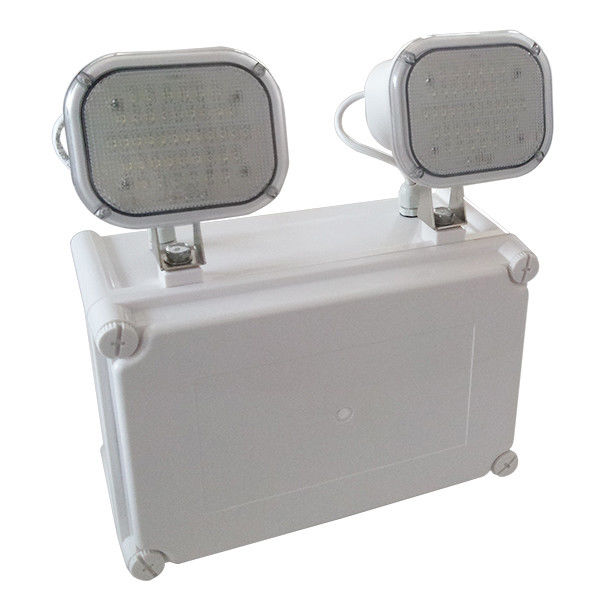 Waterproof LED Emergency Twin Spots Light, Fireproof PC Casing LED Emergency Lamp