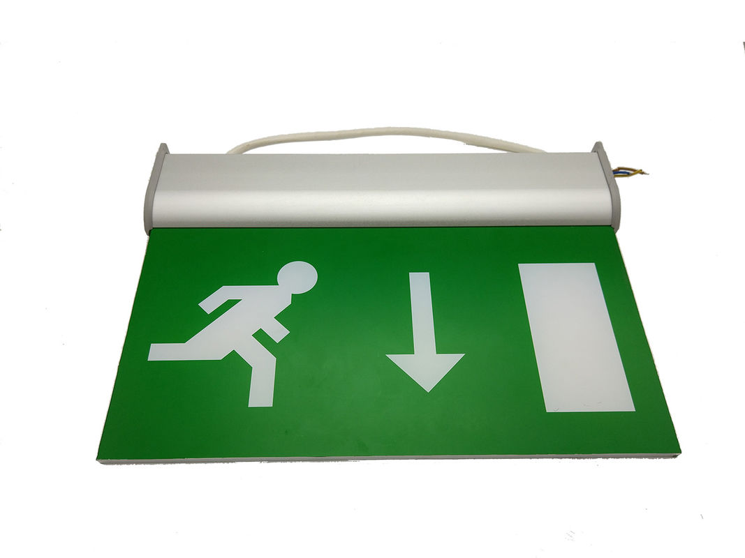 Rechargeable Double - Sided LED Emergency Exit Sign , 3 Hours Escape Sign