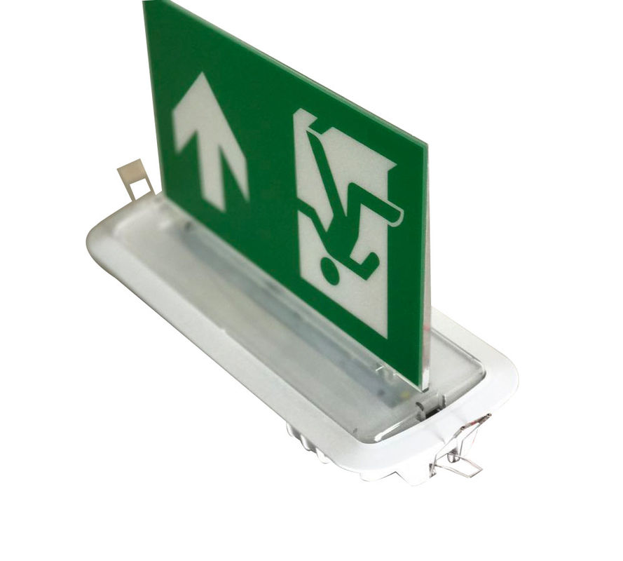 Double - Side Graphic LED Aluminum Exit Sign Ceiling Embedded Emergency Running Man