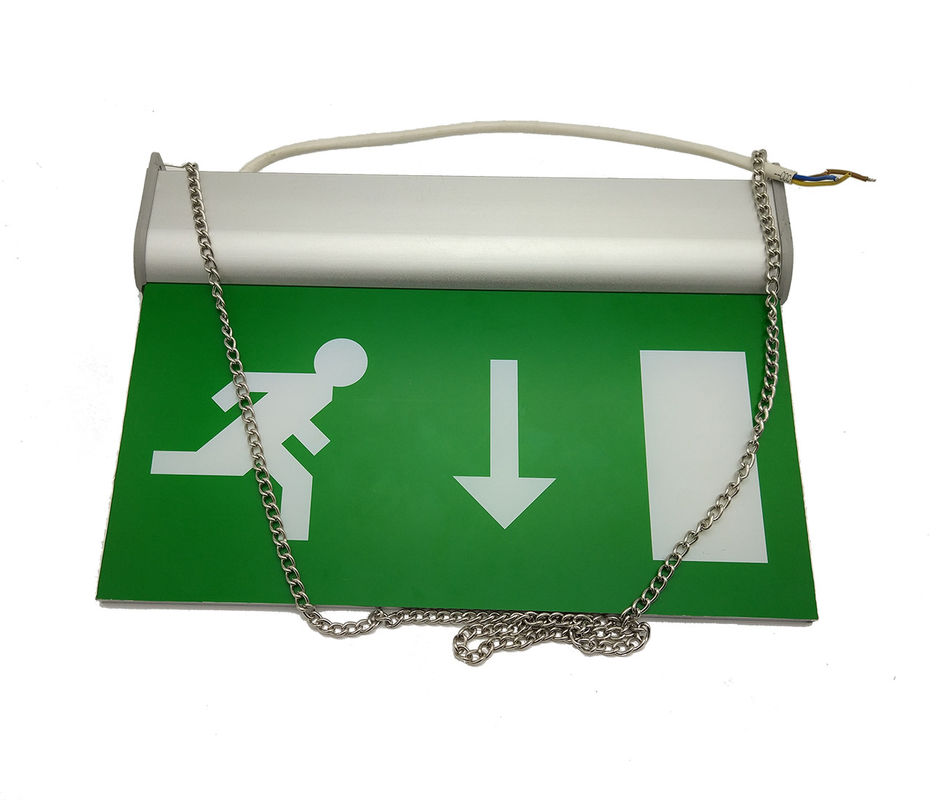 IP20 CE Approval Running Man Emergency Exit Signs 3 Hours Battery Operated