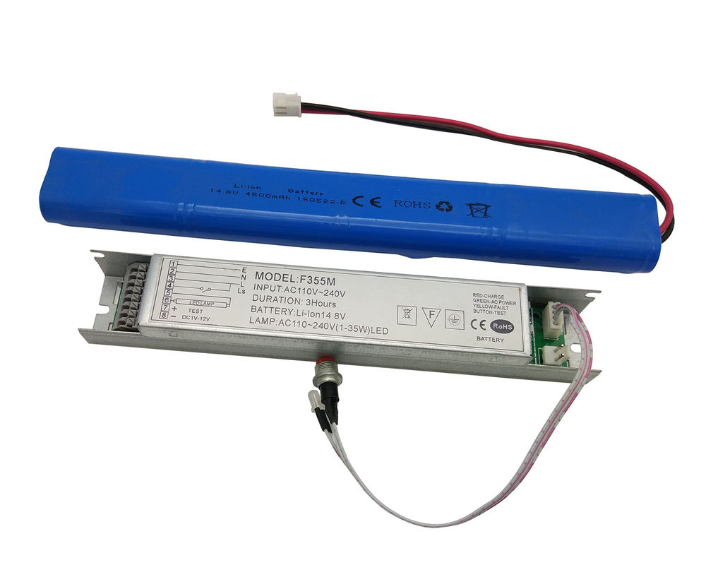 China Rechargeable Emergency Conversion Kit With Li-ion Battery For 1-45w LED Lights factory