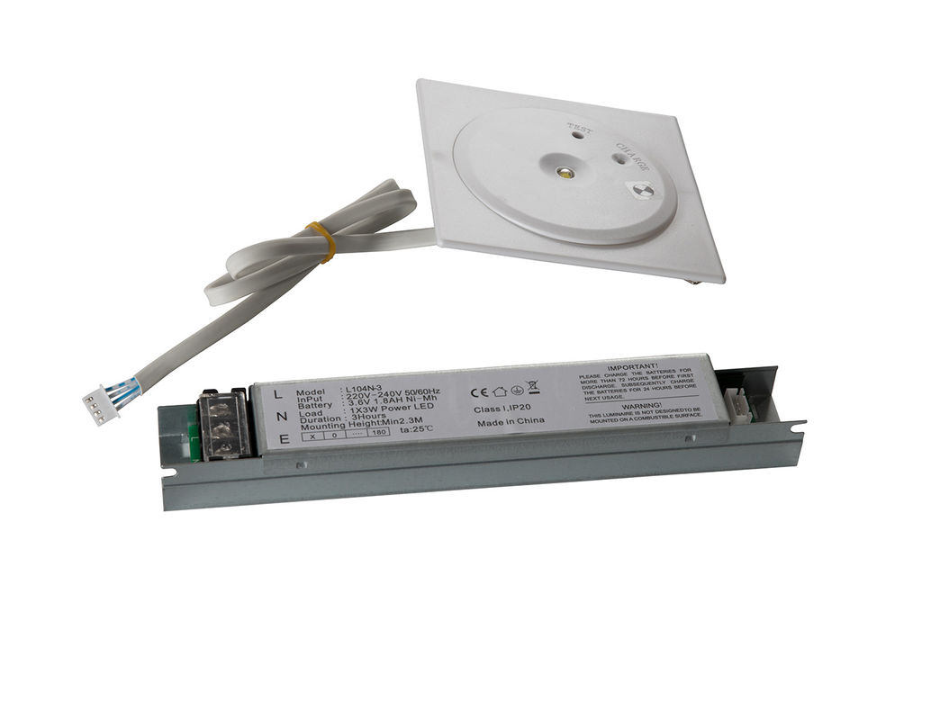 Non Maintained IP20 LED Recessed Emergency Light Fire Exit Signs 220V