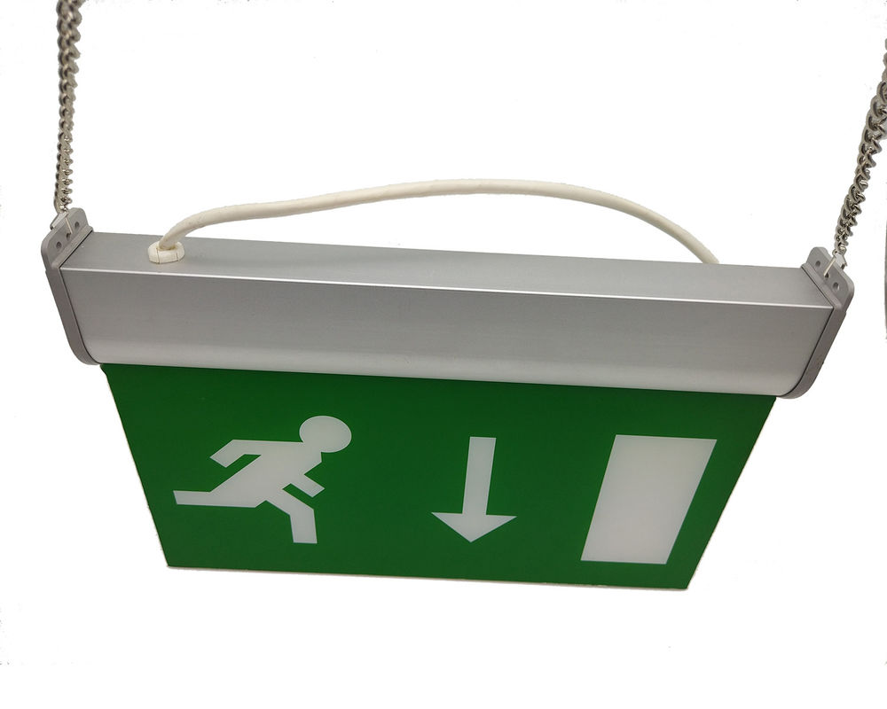 Energy Saving Wall Mounted LED Aluminum Exit Sign With Acrylic Plate