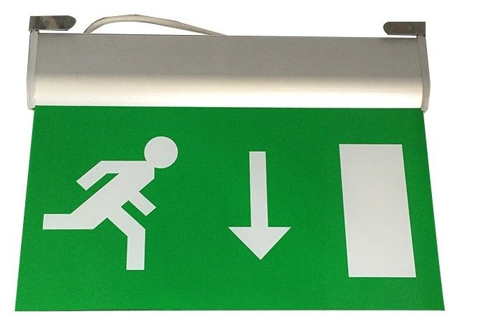 220V Maintained Aluminum Exit Sign LED Emergency Lighting Fire Exit Signs