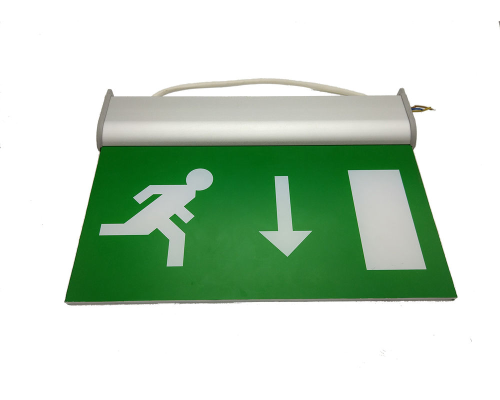 110V / 220V Double Sided Exit Signs Self Testing Running Man Emergency Light Maintained