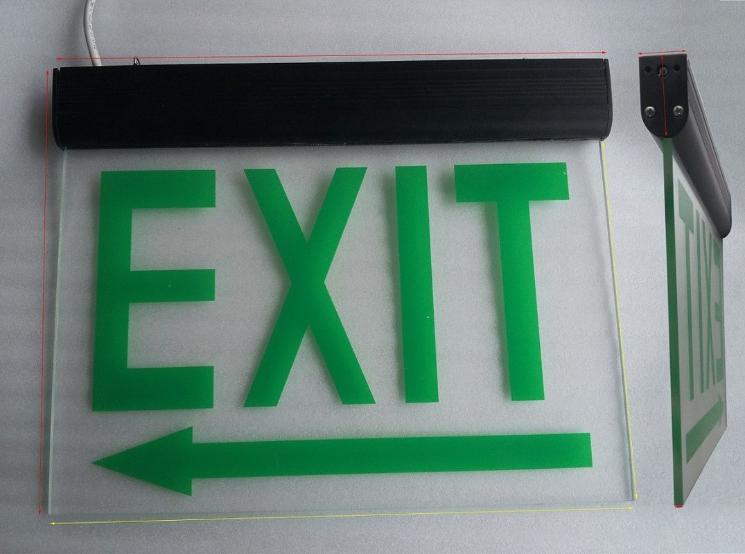 China Commercial Battery Operated Aluminum Exit Sign for Teaching Buildings (DSL008BM) factory