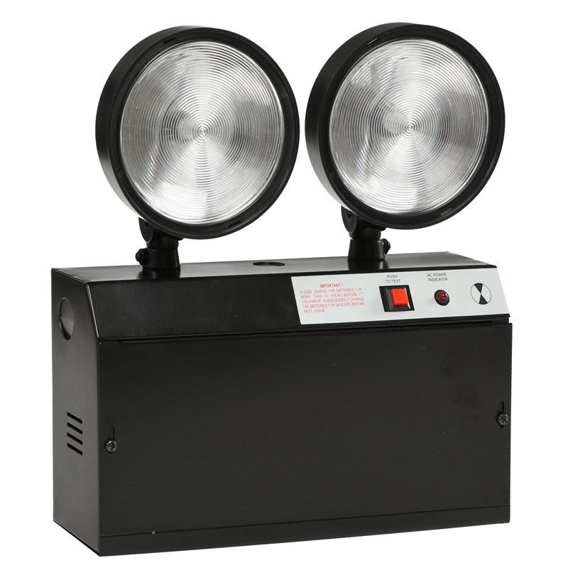 2w led rechargeable twin spot emergency lights battery powered