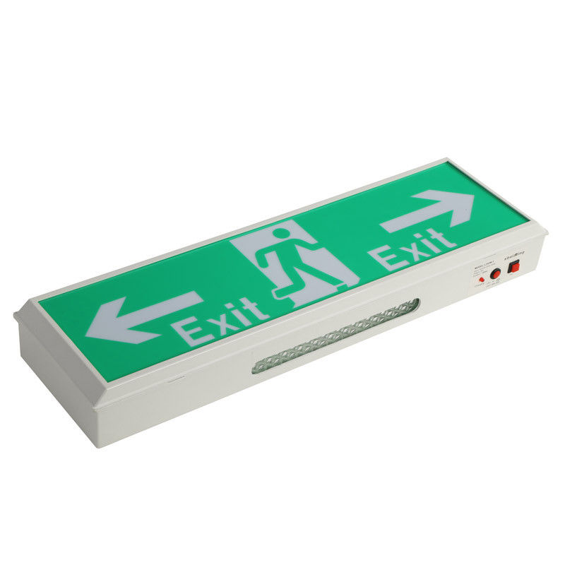 China IP20 2835 SMD Led Exit Signs Wall Surface Mounted Emergency Light For Buildings factory